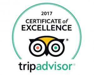 TripAdvisor Certificate of Excellence Silk Route Indian Restaurant