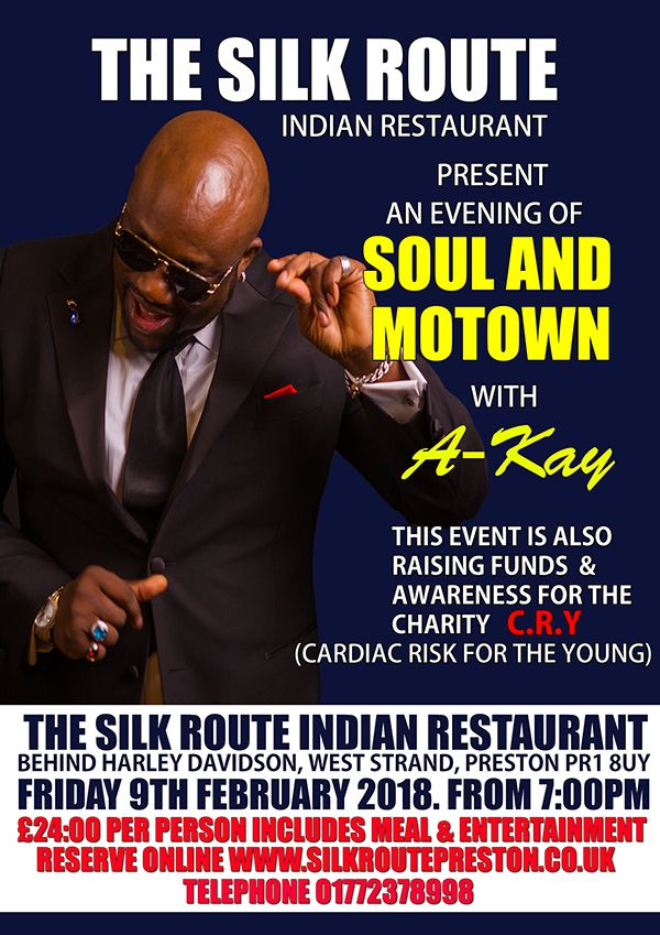 Silk-Route-Indian-Restaurant-Preston-Soul-Motown-Evening-9-Feb-2018