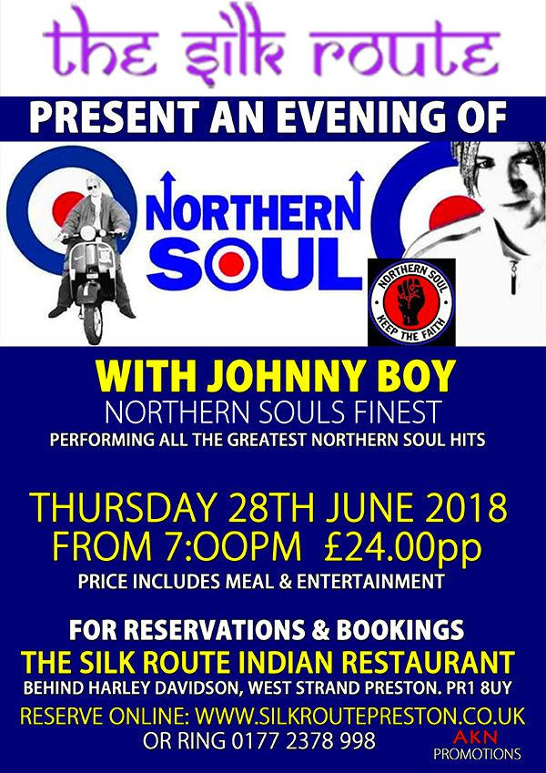 Silk Route Preston Northern-Soul Evening 28 June 2018